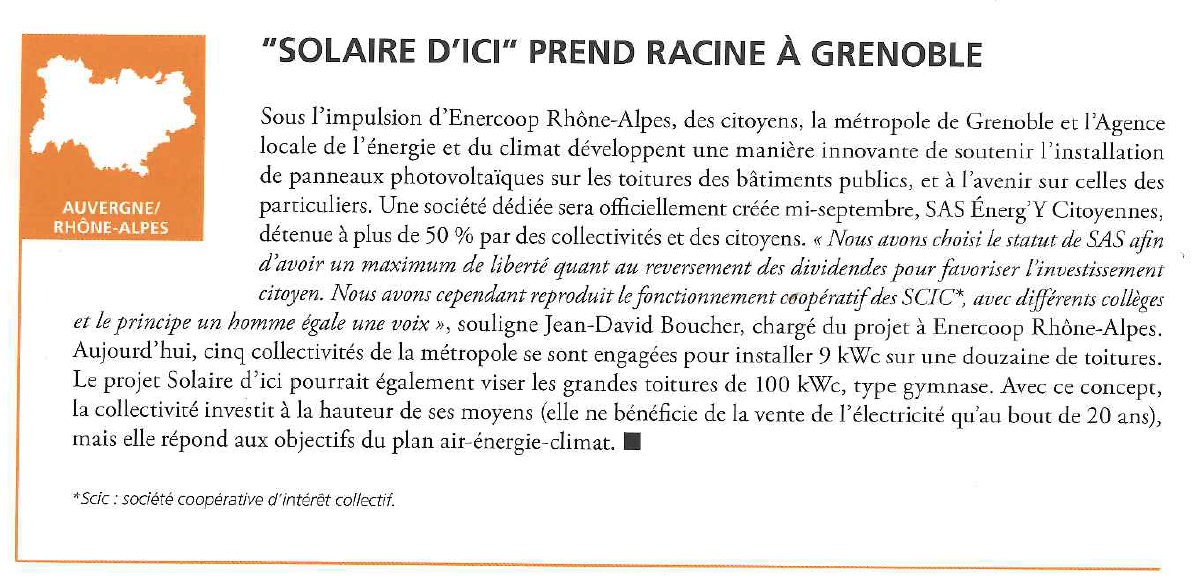 journal PV solaire dici